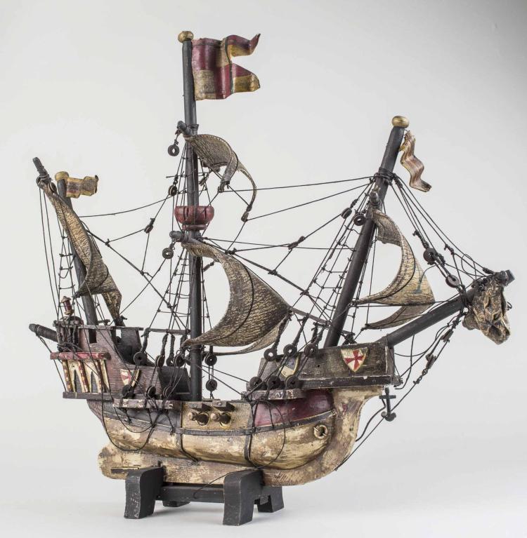 Model of Stanta Maria Ship