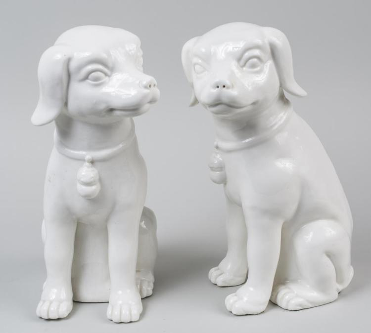Pair of Pottery Dog Figures