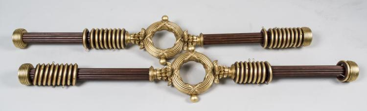 Pair of Parcel Gilt Curtain Rods