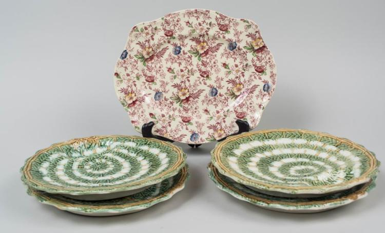 Set of Four Majolica Plates