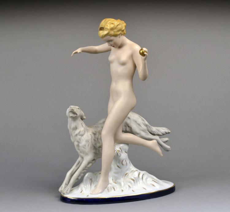 Royal Dux Porcelain Figural Group
