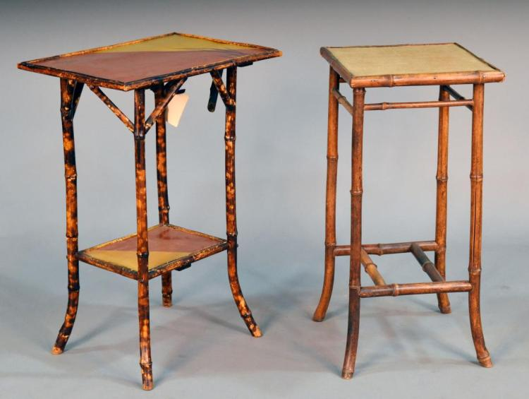 Two Bamboo Side Tables
