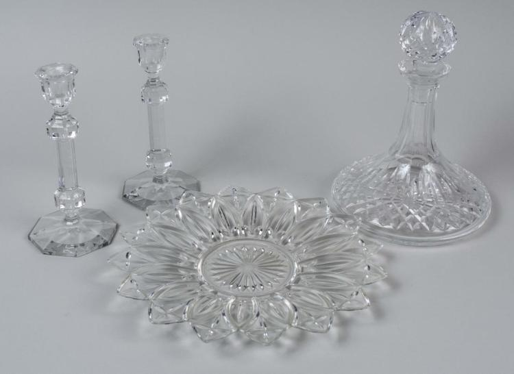 Group of Colorless Glass Table Decorations