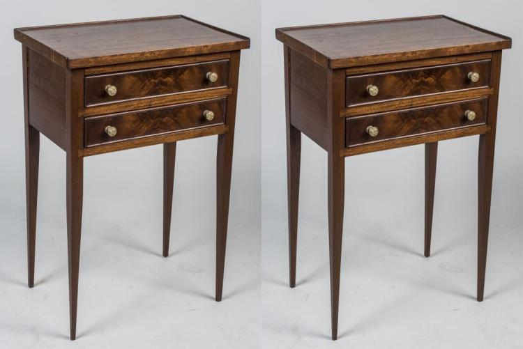 Pair of Fruitwood Nightstands