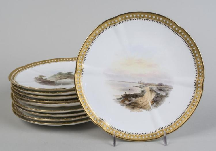 Set of English Porcelain Topographical Plates