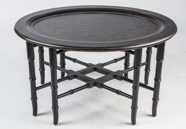 Ethan Allen Asian Style Tray Top Table
