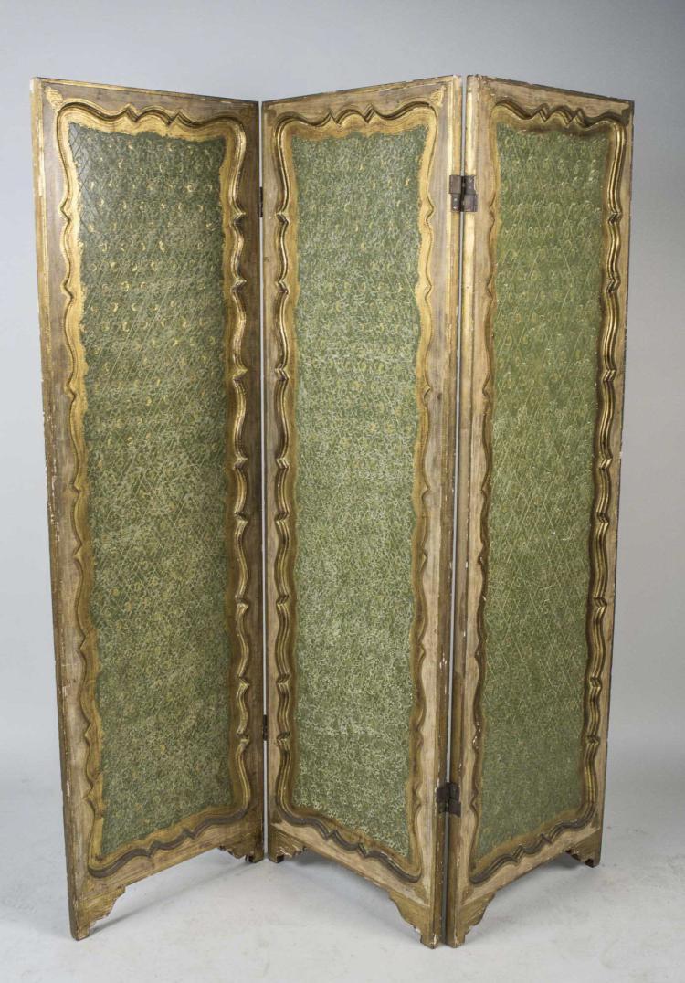 Three Panel Floor Screen