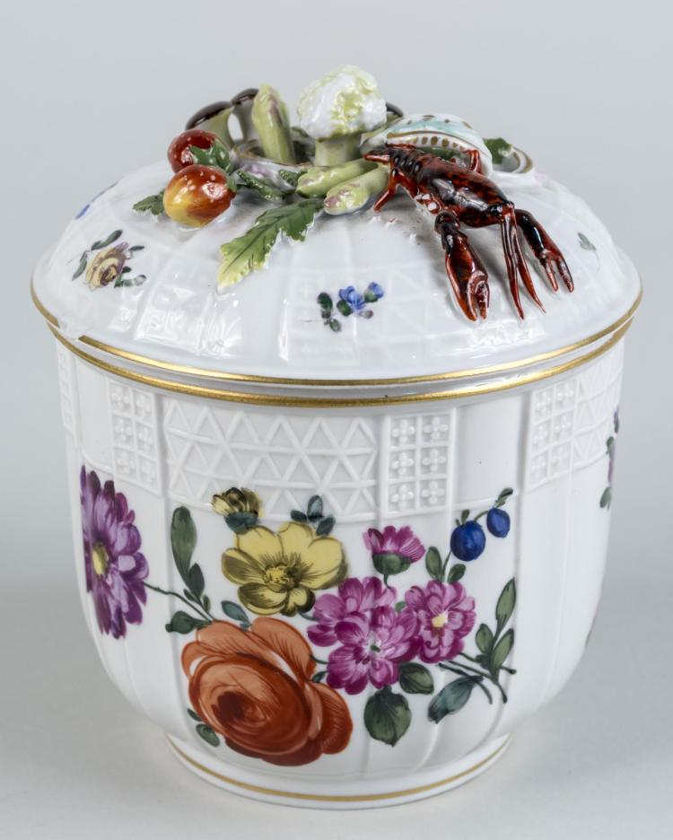 Continental Porcelain Covered Jar