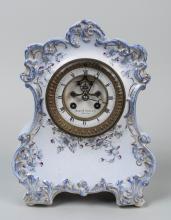French Porcelain Mantle Clock
