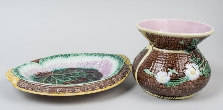 Two Majolica Table Decorations