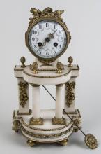 French Gilt Bronze Mounted Clock