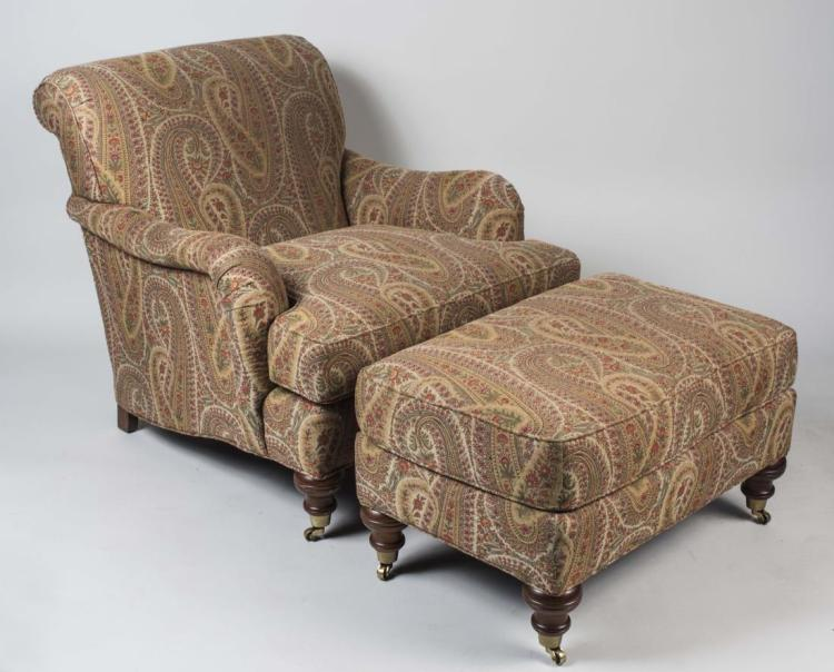 Paisley Lounge Chair and Ottoman