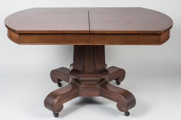 Mahogany Pedestal Dining Table