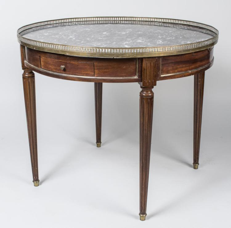Louis XVI Style Marble Top Table