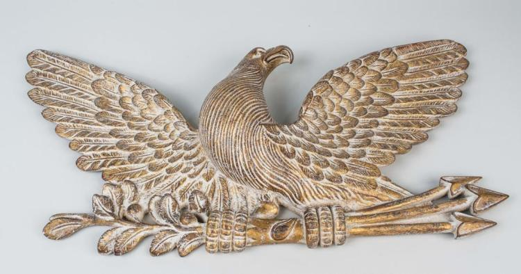 Composite Gilt Eagle Decoration