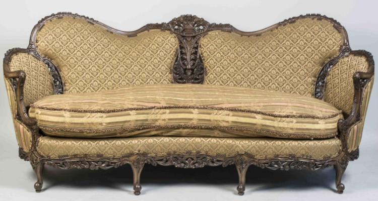 Carol Hicks Bolton Carved Sofa