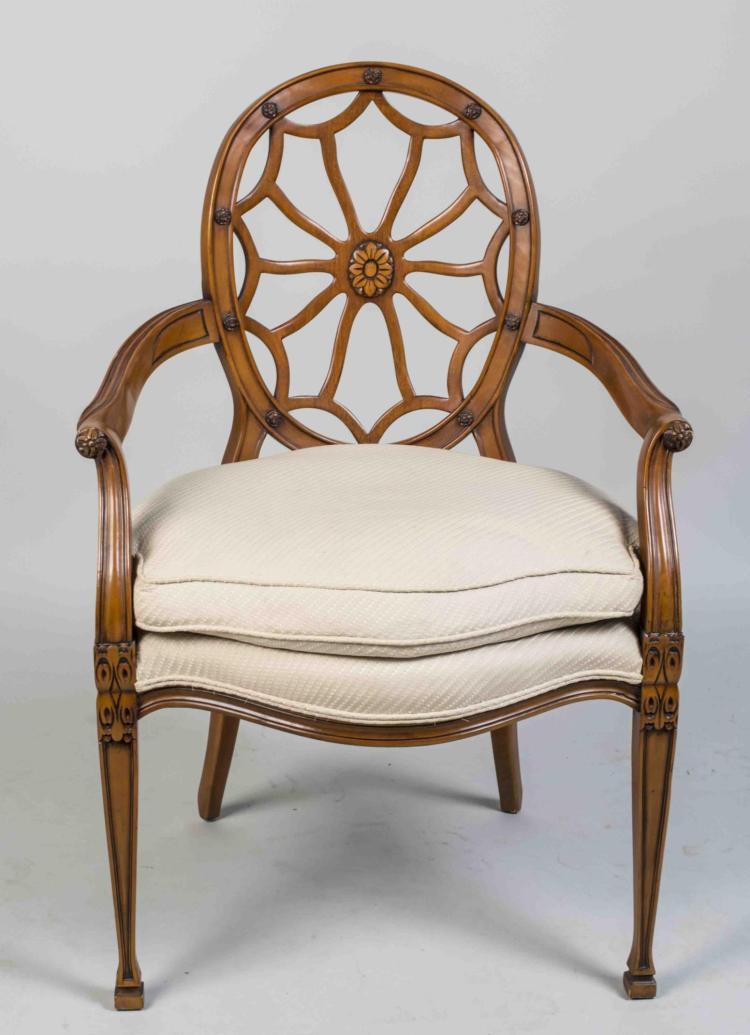 Hepplewhite Style Armchair