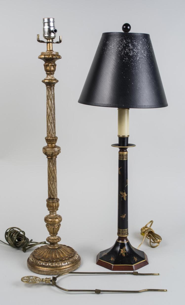 Two Candlestick Lamps