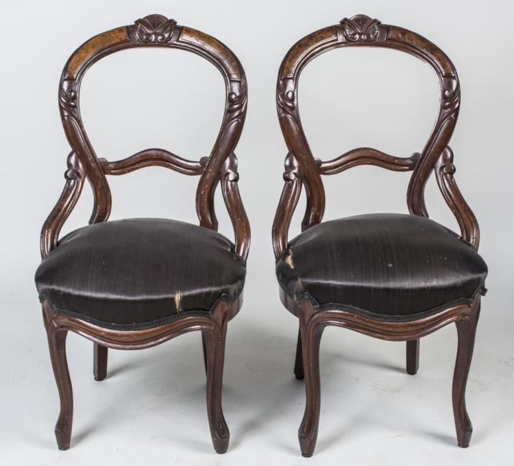 Pair of Victorian Style Side Chairs