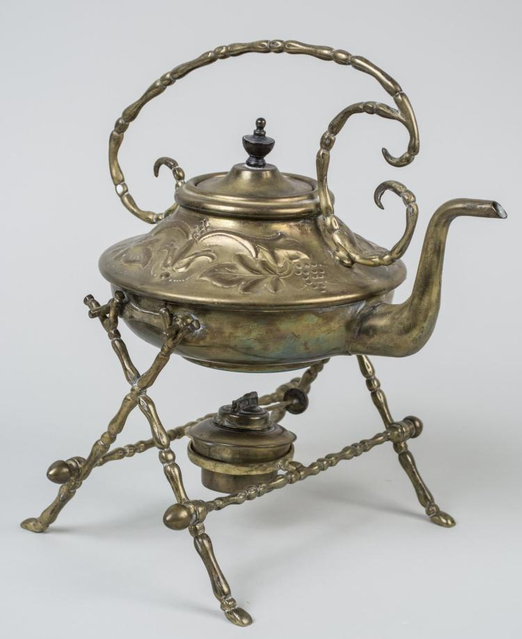 Brass Tea Kettle on Stand
