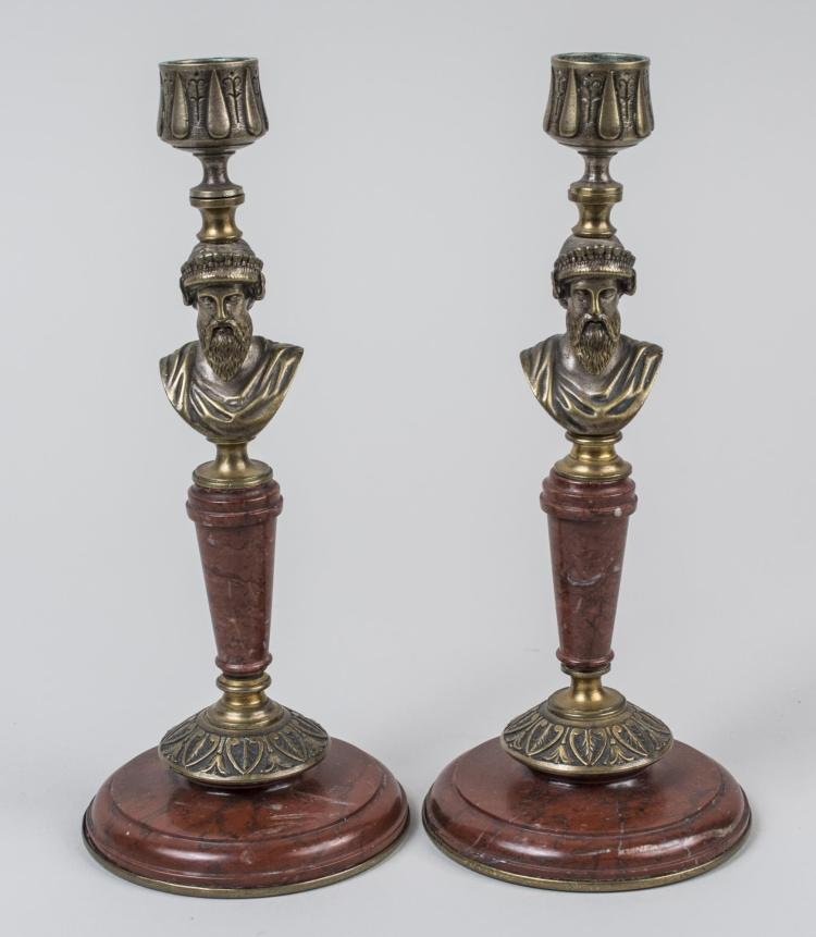 Pair of Empire Style Candlesticks