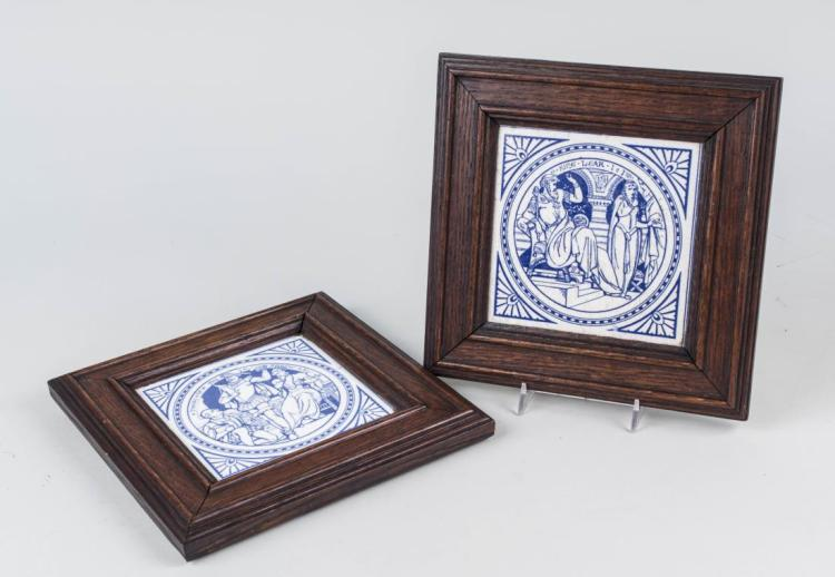 Pair of Pottery Shakespeare Tiles