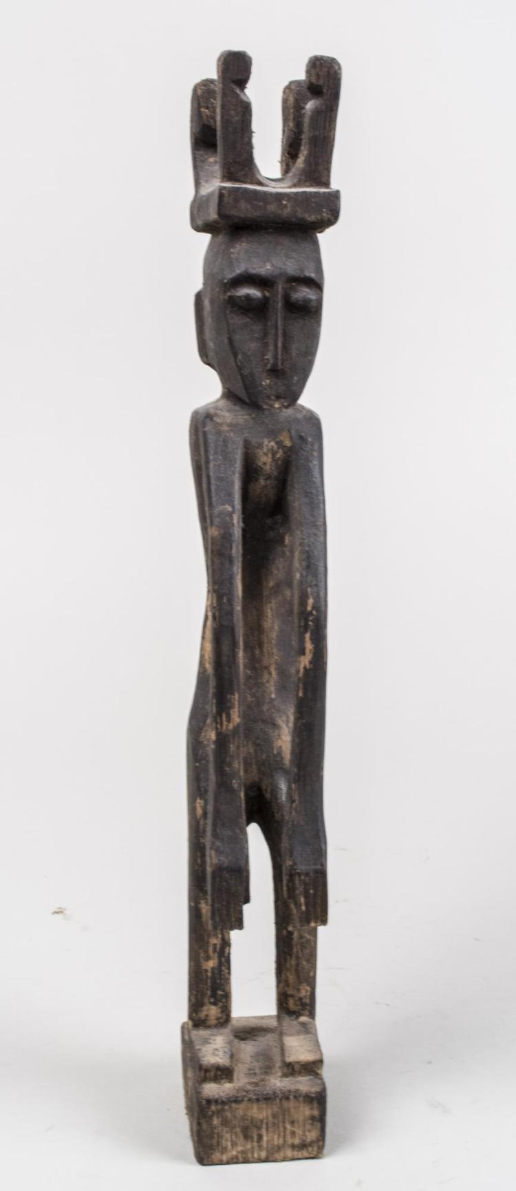 African Carved Wood Figure