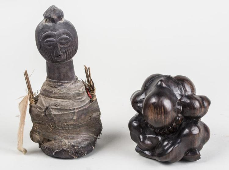 Two African Carved Wood Figures