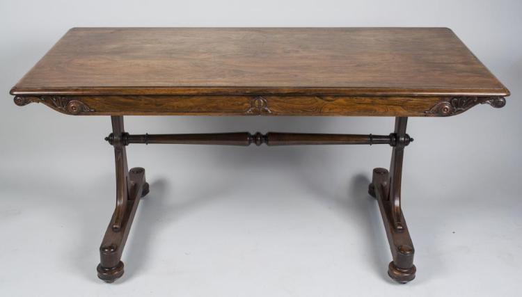 William IV Rosewood Library Table   *