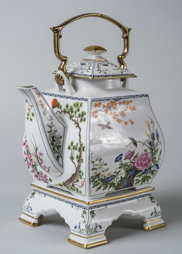 Porcelain Tea Pot on Stand