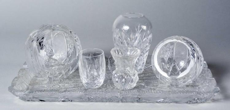 Miscellaneous Group of Table Glass