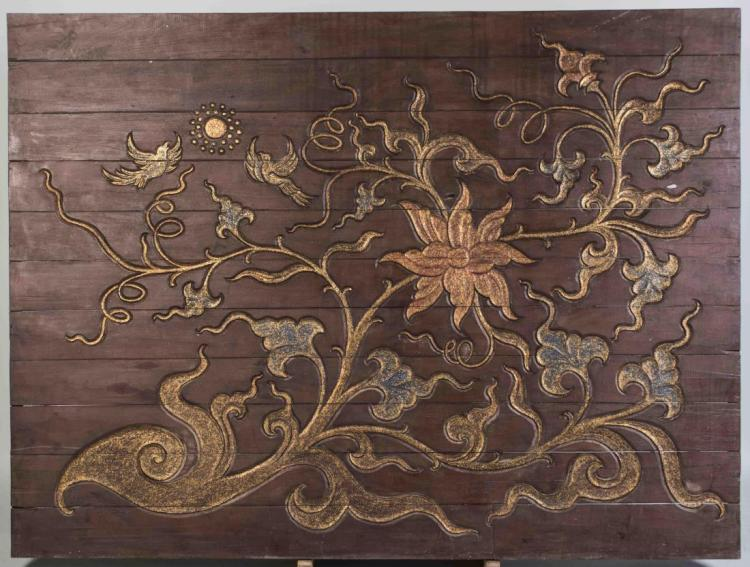 Thai Carved Wood Panel