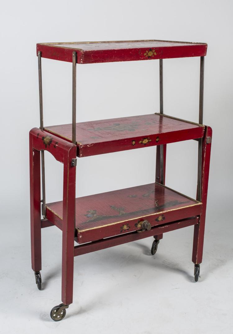 Asian Folding Table / Etagere
