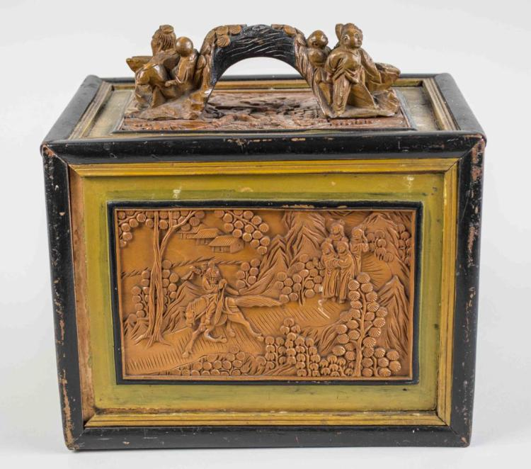 Asian Carved Wood Box