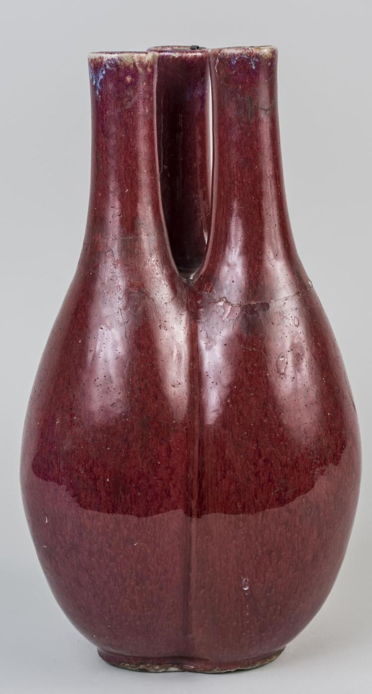 Chinese Porcelain Oxblood Triple Vase