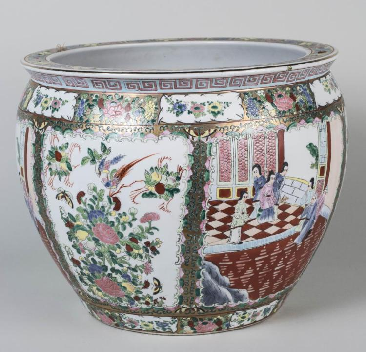 Chinese Porcelain Fish Bowl