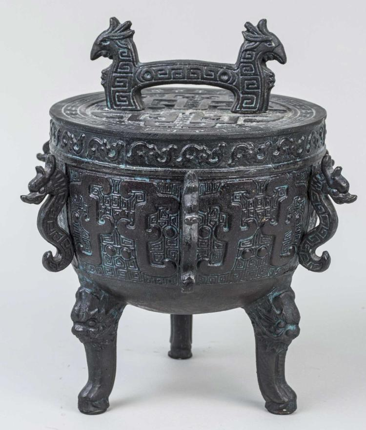 Asian Style Bronzed Metal Vessel