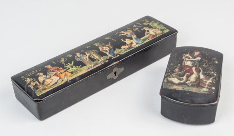 Two Small Lacquer Boxes