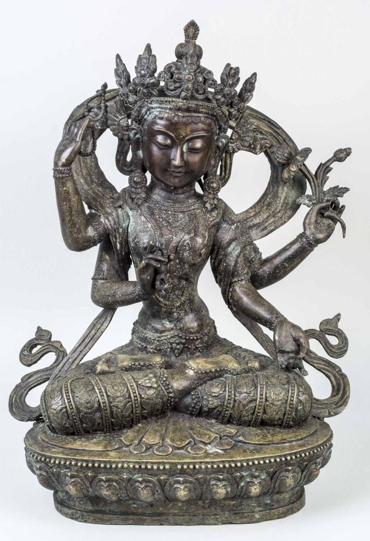 Bronze Goddess Figure