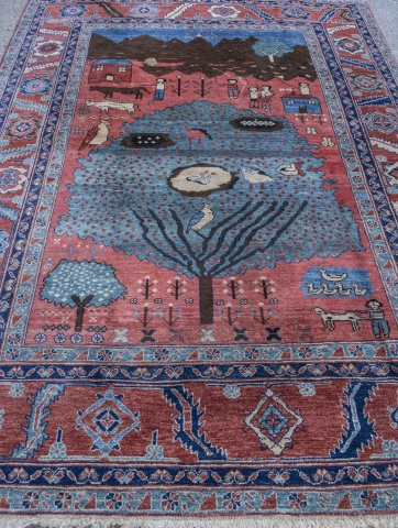 Persian Style Pictorial Carpet