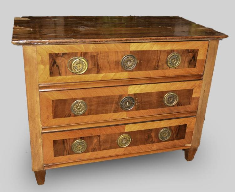 Austrian Walnut Marquetry Commode