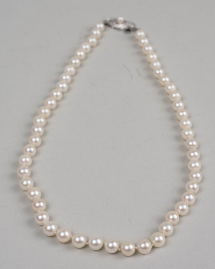 Mikimoto Pearls Necklace: Mikimoto Pearl Necklace