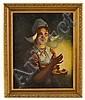 Alois Telarik (1884-1961)  Girl Holding Candle   *, Alois Telarik, Click for value