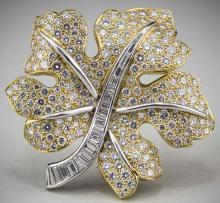 Van Cleef & Arpels Diamond Leaf Pin   *