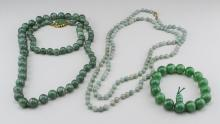 Group of Green Bead Jewelry   *