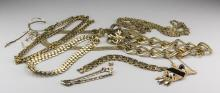 Group of Gold Tone Jewelry