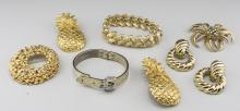 Group of Gold Tone Designer Jewelry