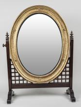 Gilt Wood Mirror on Stand
