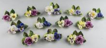 Crown Staffordshire Porcelain Place Card Holders