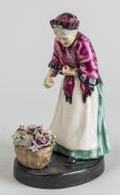 Porcelain Figure of a Flower Seller